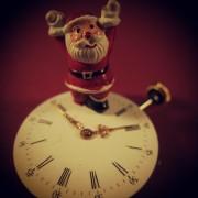 Weihnachten, Weihnachtsmann, Santa Claus, Nikolaus, Uhr