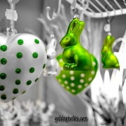 Osterei, Ostern, Osterhase, grün
