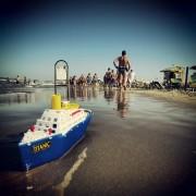 Riccione, Strand, Adria, Spielzeug, Kreuzfahrtschiff