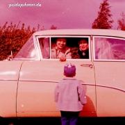 Kind, Frau, Auto, Abschied, Begegnung, Lachen, 1960er