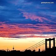 Sonnenuntergang, Köln, Rodenkirchen