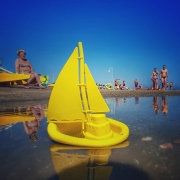 Adria, Strand, Riccione, Segelboot