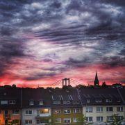 Köln-Rodenkirchen, Balkonien, Sonnenuntergang