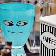 Augen, Kaffee, türkis