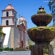 Kirche, Mission, Architektur, Gebäude, Kalifornien, USA, Brunnen, Springbrunnen