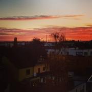 Sonnenuntergang, Köln-Rodenkirchen, Balkonien