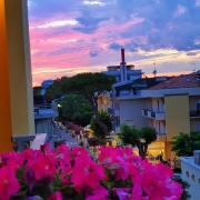 Riccione, Sonnenuntergang