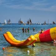 Riccione, Strand, Adria, Segelboot