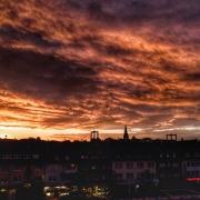 Köln-Rodenkirchen, Sonnenuntergang