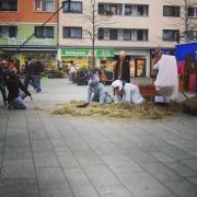 Maternusplatz, Rodenkirchen, Köln, Weihnachten, Weihnachtskrippe, TV, Film, Fernsehen