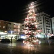 Maternusplatz, Rodenkirchen, Köln, Weihnachtsbaum, Christbaum