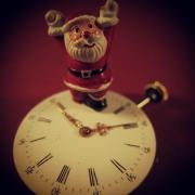 Weihnachtsmann auf der Uhr