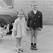 Kind, Junge, Mädchen, 1960er, lustig, B/W, S/W