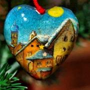 Weihnachten, Weihnachtskugel, Herz