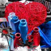 Herz, rot, blau