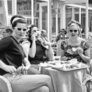 Frauen, Kaffee, Flughafen, 1960er