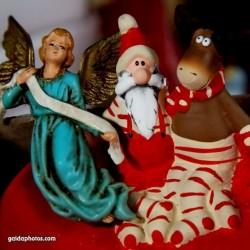 Weihnachtsmann, Elch, Engel